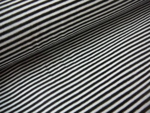 bavlněný úplet - ČB proužek - 200g/m2  š.150cm