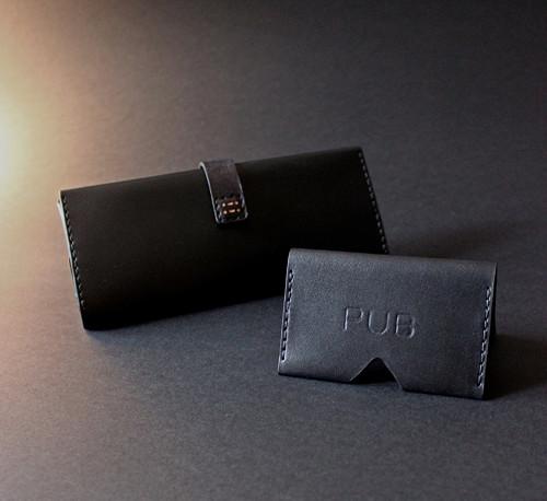 Kožená peněženka s vyjímatelnou kapsičkou na karty