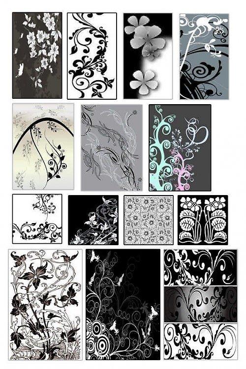 černobílé ornamenty