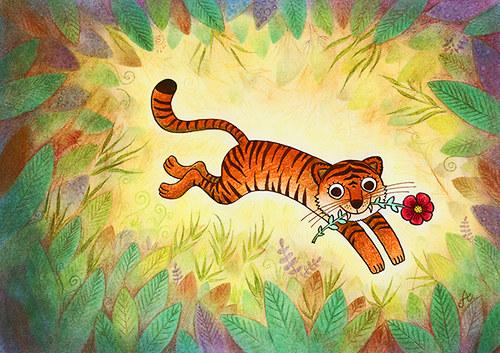 Zamilovaný tygr (bez rámečku)