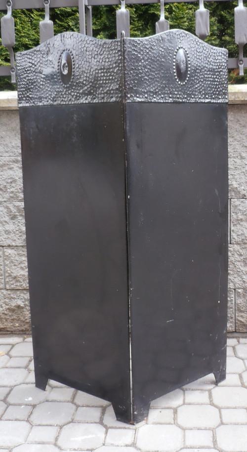 kovová zástěna ke kamnům