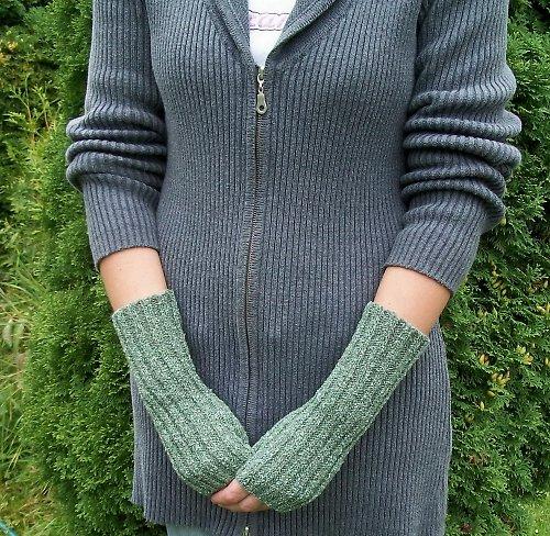 Pletené návleky na ruce - froté