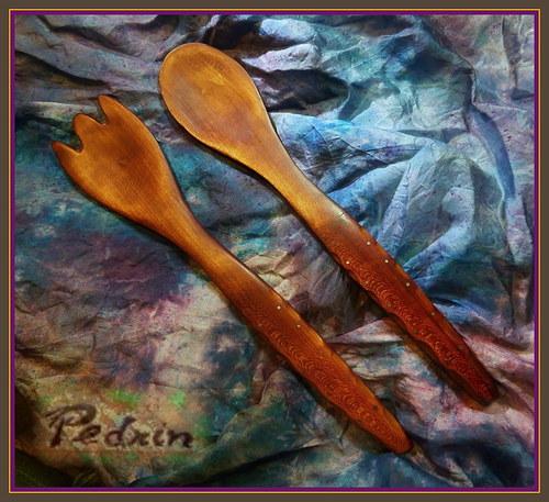 dřevěný SALÁTOVÝ SET 1..... slivoňka - Arónie.....