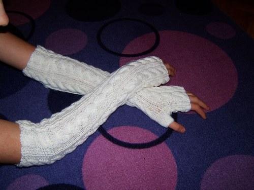 Pletené návleky nadlokťáky