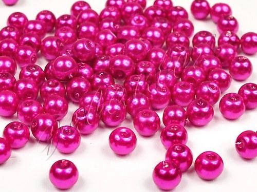 Voskované perly Ø 6mm kulička fialovorůžové (50ks)