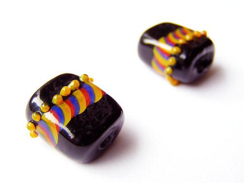 Černý obdélníček s trikolórou ((V151))