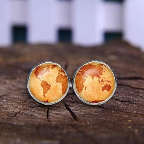 Manžetové knoflíčky země oranžový odstín