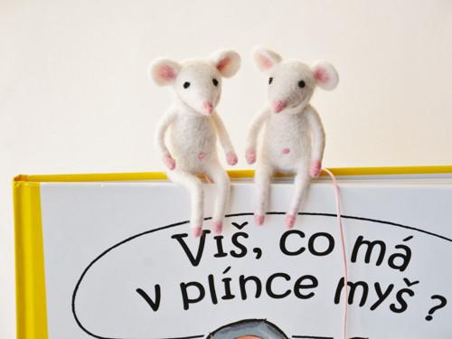 Myška bílá - záložka do knihy