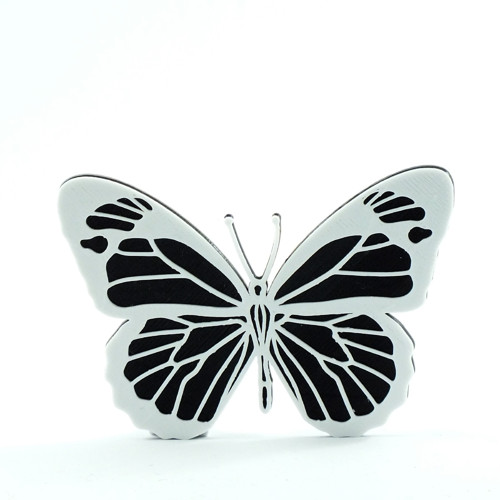 Motýlek black/traffic white