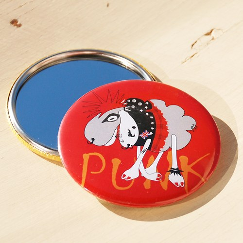 Zrcátko Punková ovce (75 mm) s pytlíčkem