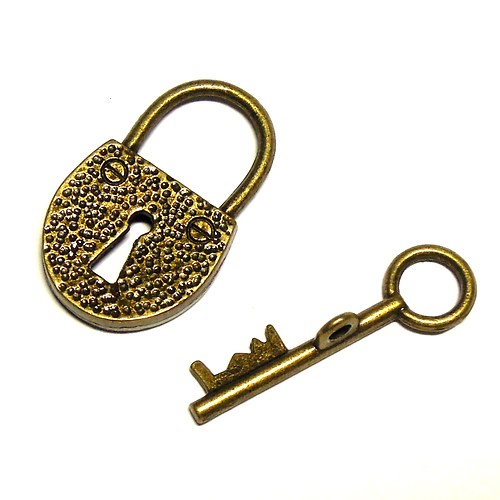 Zapínání srdce s klíčkem