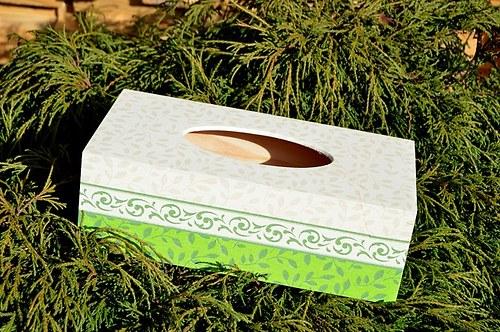 Krabička na kapesníky - lístky