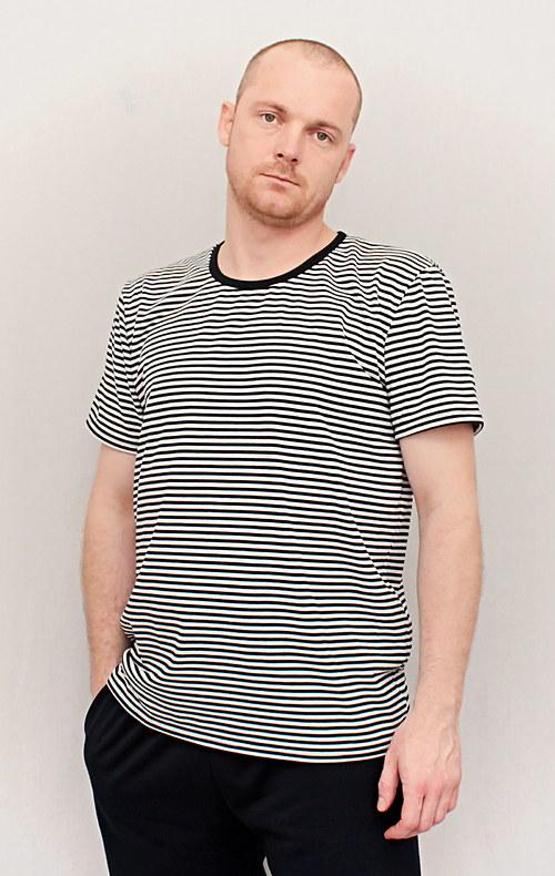 Pánské námořnické triko tenký proužek
