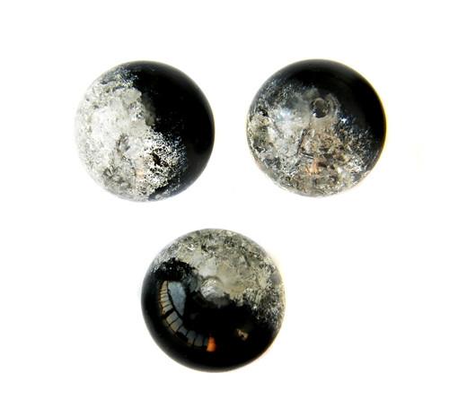 Práskačky žíhané černo-bílé 6 mm 18 ks