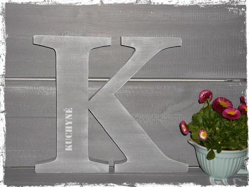 MEGA písmeno K - KUCHYŇ, KITCHEN