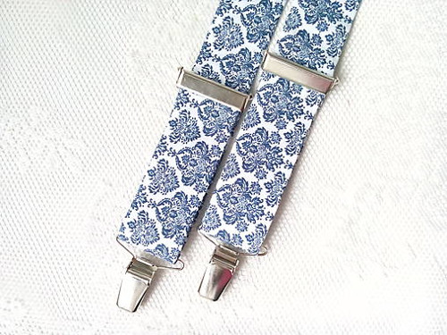 Blue orient suspenders