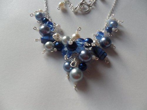 Modrá romantika - náhrdelník