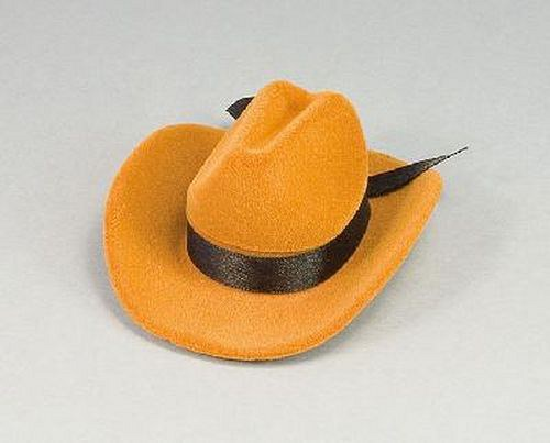 Sametová krabička na šperky - kovbojský klobouk