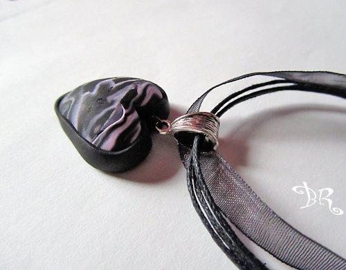 Srdce růžovočerné malé