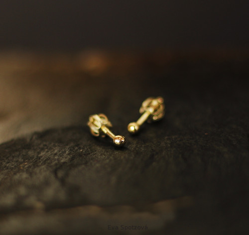 GG N°7 náušnice - žluté zlato (Au 585/1000)