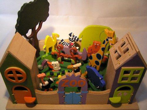 Zoo Lane - drevená hračka pre deti od 3 rokov