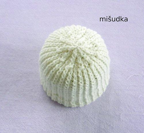 Čepice jako od maminky - bílá