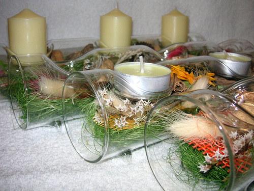 Na 3 svíčky...do tmavě-zelena