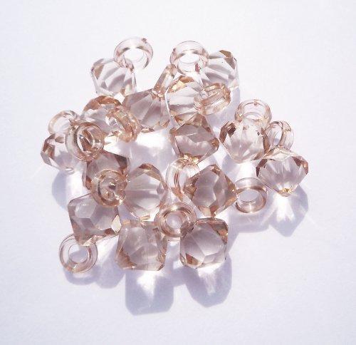 Plastové sv.hnědé korálky (3 ks)