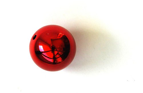 Kulička lesklá 20mm - červená