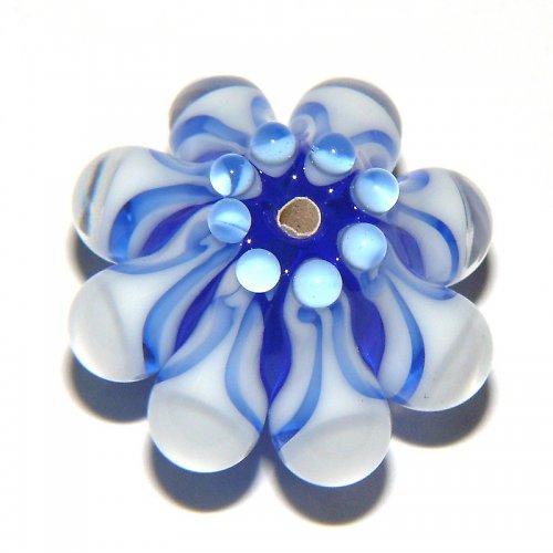 Vinutá perle - EXKLUZIV - modrá