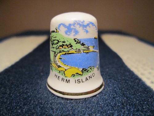 Sběratelský náprstek Anglie - Herm Island