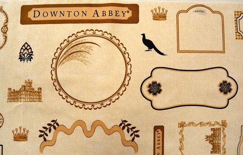 Downton Abbay, štítek na označení quiltu