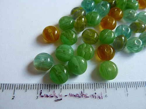 Disky - zelené odstíny 9x6 mm .... 25 ks