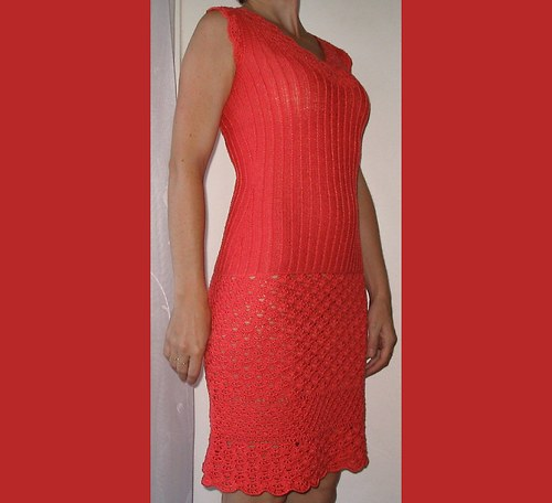korálově červené šaty SLEVA