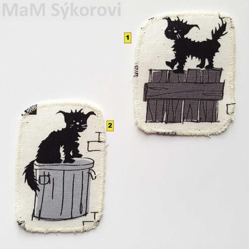 Nažehlovací záplaty čertovské kočičky :)