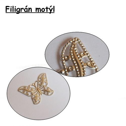 Filigrány Butterfly - stříbro