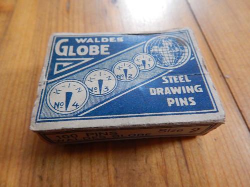 Krabička od připínáčků - z 1. republiky - K.I.N.