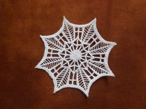 Vánoční ozdoba - sněhová vločka bílá 208919