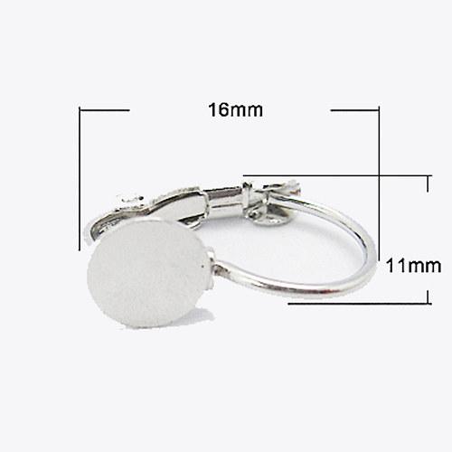 Náušnice zavírací s ploškou 6mm, stříbrná
