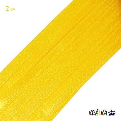 Atlasová stuha 3 mm žlutá