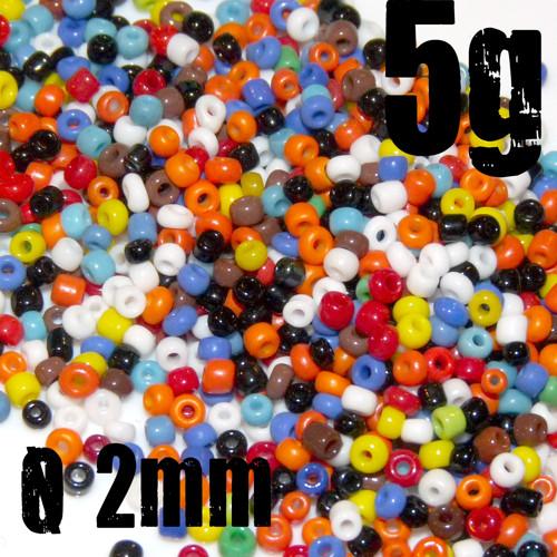 Skleněný ROKAJL mix barev PASTEL, 2 mm, 5g