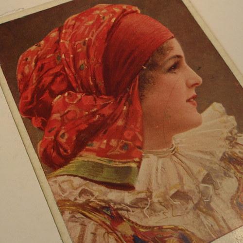 Muttich Děvče z Hané - pohlednice č. 1159