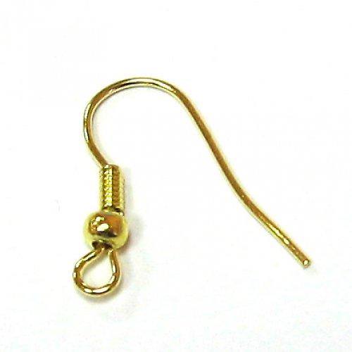 Naušnice zlaté - 6 ks