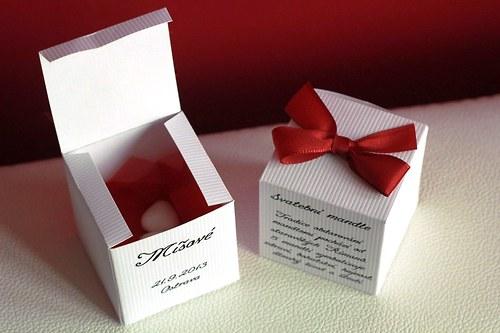 Krabičky jako dáreček pro svatební hosty !!!