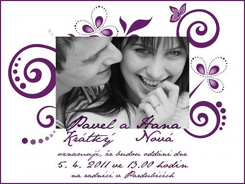Svatební oznámení - Foto I.