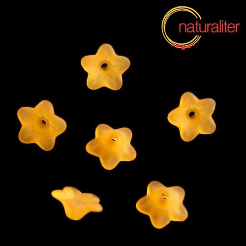 Květina akrylová 9mm oranžová, 10ks