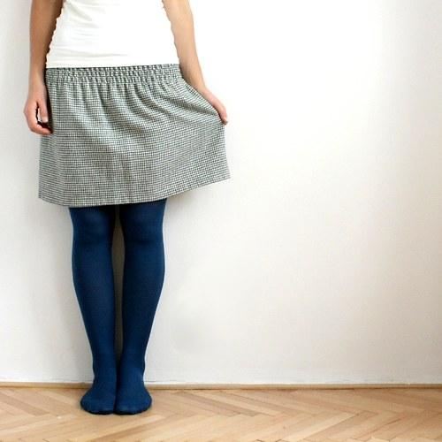 Žabková suknička, vlněná - zelená kohoutí stopa :)