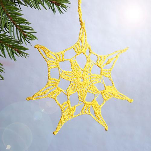 Vánoční hvězda 10 - žlutá