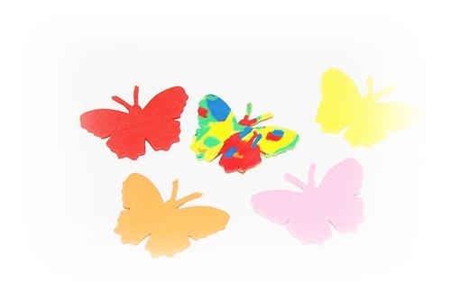 Pěnová guma-výseky - motýl 15ks