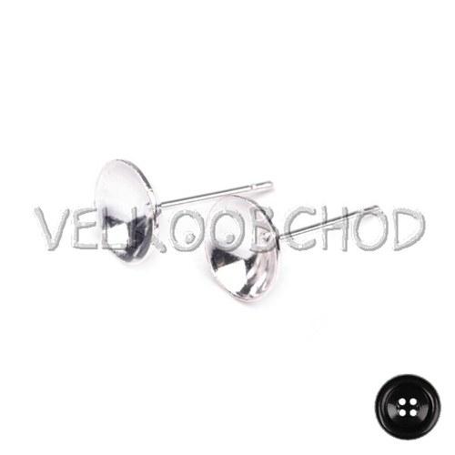Puzeta zaoblená pr.8mm (20ks=10párů) - stříbrná